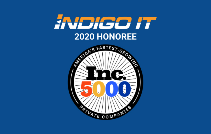 INDIGO IT RECOGNIZED ON 2020 INC. 5000 LIST